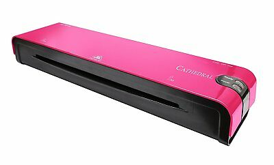 A4 Heated Electric Laminator High Quality Cathedral Machine Roller A5 - Pink