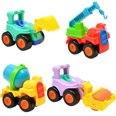 4Pcs Engineering Vehicles Inertia Cars Model Buggy Kids Collection Toys Gift