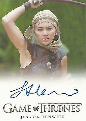 "Game of Thrones Season 6 - Jessica Henwick ""Nymeria Sand"" Autograph Card"