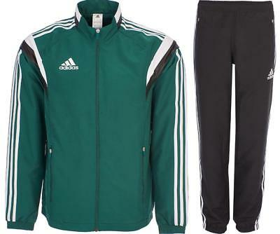 New Adidas Mens Tracksuit Woven Training Track Top Pant Casual Green G90430