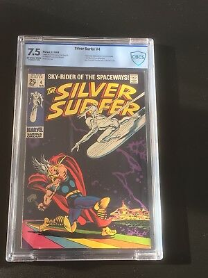 Silver Surfer #4 CBCS (not CGC) 7.5