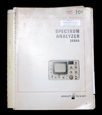 HP 3580A Spectrum Analyser Official Operating and Service Manual