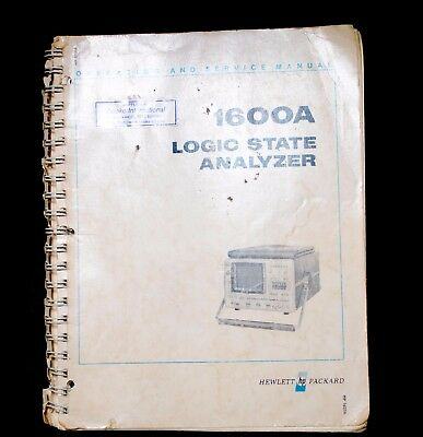 HP 1600a Logic State Analyser Official Instruction Manual
