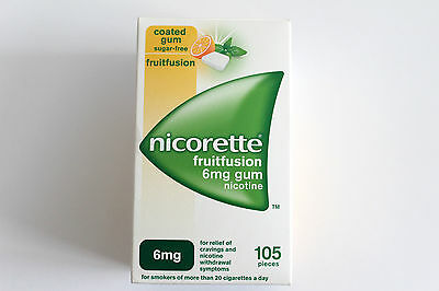 Nicorette Fruitfusion Flavour 6mg Sugar-Free Coated Gum - 105 Pieces