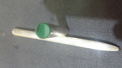 Dunhill Vintage Sterling Silver & Malachite  Rollerball Pen