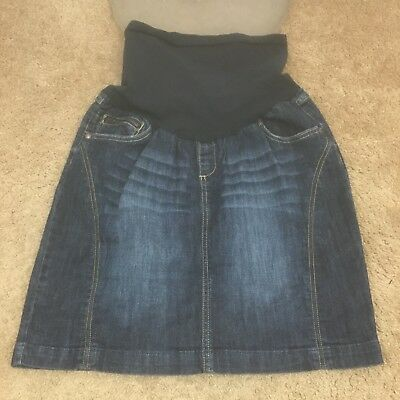 Indigo Blue Womens MEDIUM Denim Skirt VEUC