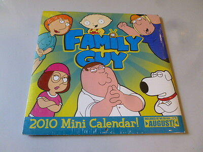 "Family Guy Mini Calendar 2010 Sealed New 7"" x 7"" Quick Careful Free Shipping"