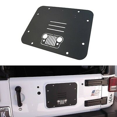 Spare Tire Carrier Delete Filler Plate Tramp Stamp Grill for Jeep Wrangler 07-17
