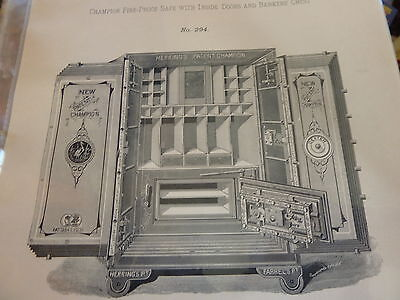 Antique, vintage safe catalogue Herring & Co's