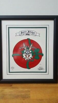 "Bugs Bunny Framed Wb Hand Painted ""limited Edition"" Only 125 World Wide Sericel"