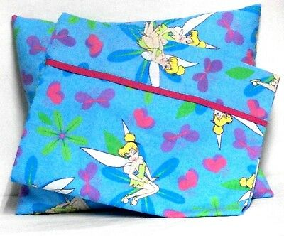 Tinkerbell Toddler Pillow and Pillowcase set Turquoise Cotton #TB2 New Handmade