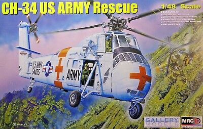 Gallery Models MRC 64103, CH-34 US Army Rescue, Bausatz, 1:48, Neu