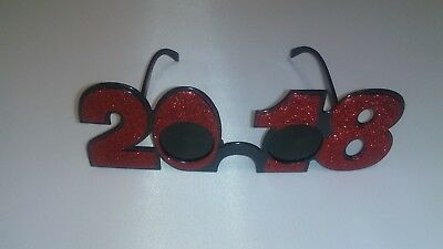 2018 sunglasses New Years Eve glitter red glasses new