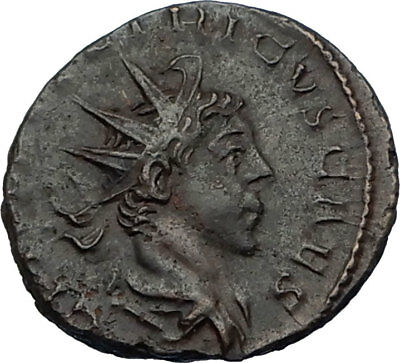 TETRICUS II 273AD Authentic Ancient Roman Coin GALLIC EMPIRE Implements i65629
