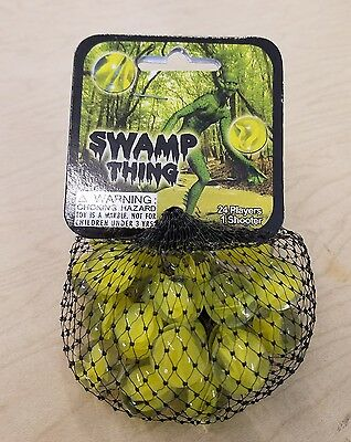 Vacor  Rare RETIRED Mega Marbles  Swamp Thing 36 Net bags 1 CASE lot