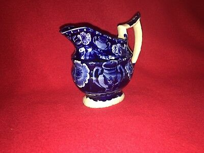 Historical Staffordshire Dark Blue Eagle On Urn Creamer By Clews Ca. 1825