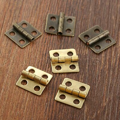 40pcs Vintage Mini Hinges Crafts Dollhouse Jewelry Cigar Box Decorative Hinges