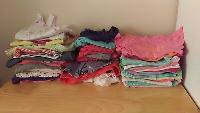 HUGE 45 Pc Lot Baby Girl Clothes 0-3 Months Outfits Carters Gymboree
