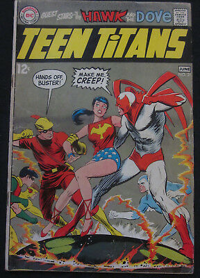 TEEN TITANS #21 1st Series 1969 DC Comics VG/FN 5.0 Hawk & Dove NEAL ADAMS