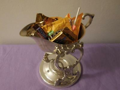 Vintage Sheridan Silver Plate Chafing Gravy Boat and Warmer Stand