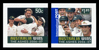 2007 Australia Wins The Ashes 2006-07 - Set of 2 Self Adhesive Stamps - MUH