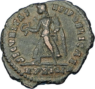 VALENS Genuine 367AD Rome Authentic Ancient Roman Coin VICTORY Angel i65825