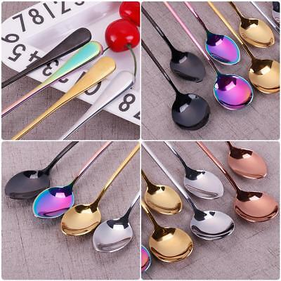 19.5cm Stainless Steel Spoon With Long Handle Ice Spoon Coffee Spoon Tea EB