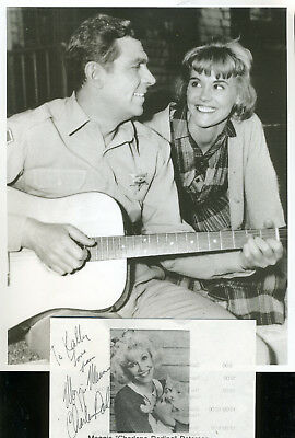 Maggie Peterson Charlene Darling On Andy Griffith Show Sign. & Photo