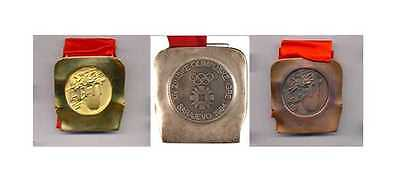 1984 Sarajevo Olympic Medals Set with Ribbons  & Display Stands !!!