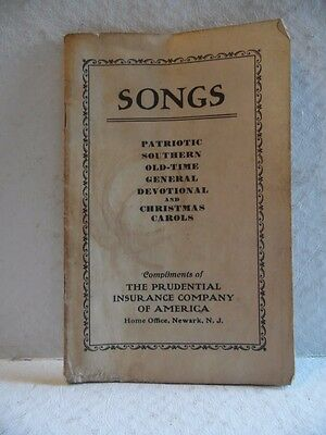 Vintage Compliments of Prudential Insurance Company Song Booklet Patriotic