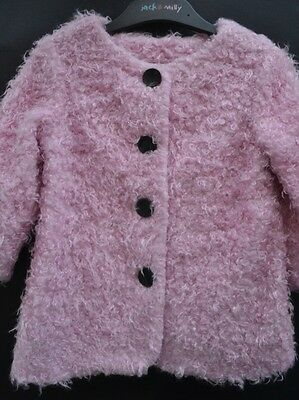 Jack & Milly baby girl's designer jacket Sz 2 BNWT pink lined vintage collection