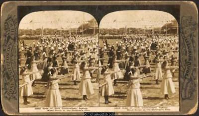 1901 George Rose Stereo Card #3862 of Duke of York Celebrations, Sydney,