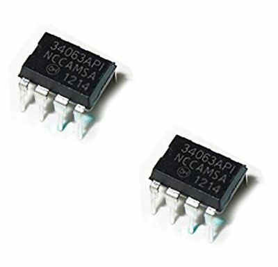 2 x MC34063A DIP8 1.5A Boost Buck Inverting Switching Regulator IC 34063API
