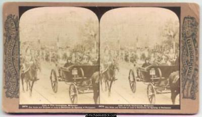 1901 George Rose Stereo Card #2874 of Duke of York Celebrations, Melbourne