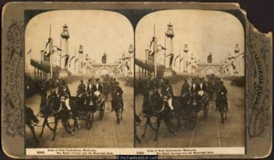 1901 George Rose Stereo Card #2998 of Duke of York Celebrations, Melbourne