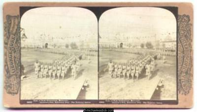 1901 George Rose Stereo Card #2925 of Duke of York Celebrations, Melbourne