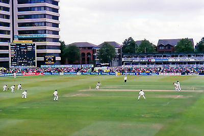 Trent Bridge Cricket Ground: view from the old Parr Stand, 1998 - 6x4 postcard