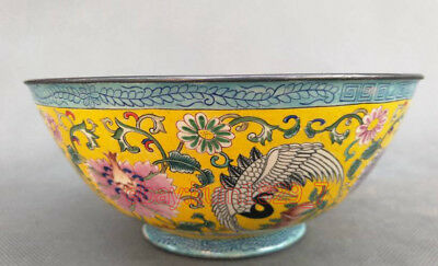 Chinese Old Exquisite Collection  Cloisonne bowl Qianlong Mark