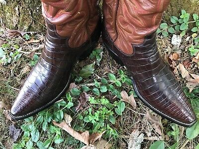 26daa54823b VINTAGE RARE EXOTIC Custom Handmade 10D Paul Bond Alligator Belly Western  Boots