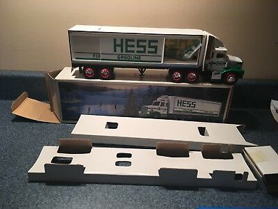New Never Used 1987 Hess Toy Truck With Barrels All Inserts Made In Hong Kong