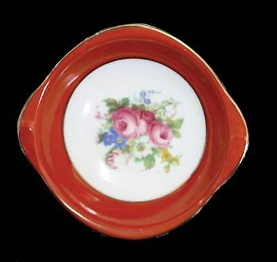 Vintage Royal Stafford pretty orange & floral pin dish in excellent condition