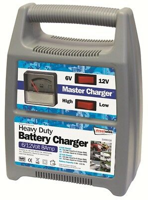Streetwize SWBCG8 6/12v 8 Amp Automatic Plastic Cased Battery Charger