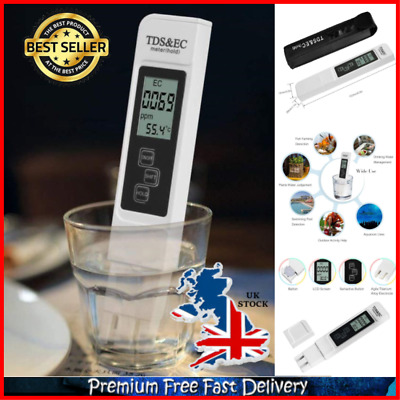 Digital TDS Meter Tester Professional Home Pool Spa Tap Drinking Water Tester UK