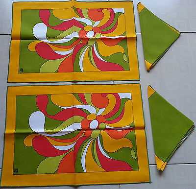 Set COLAZIONE Americana/BREAKFAST Placemats per 2 person Cotton