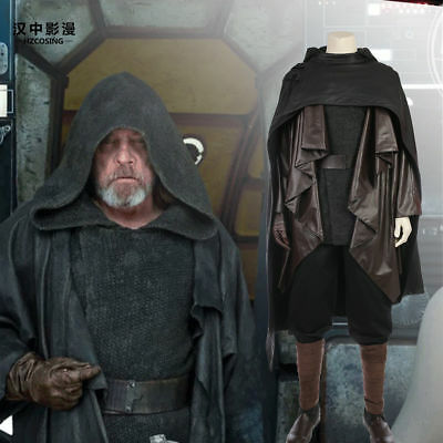 HZYM Star Wars The Last Jedi Luke Skywalker Cosplay Costume Full Set Custom Made