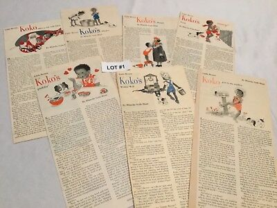 Little Brown Koko Magazine Clippings From Household Magazine 1947-1951 Choose 1