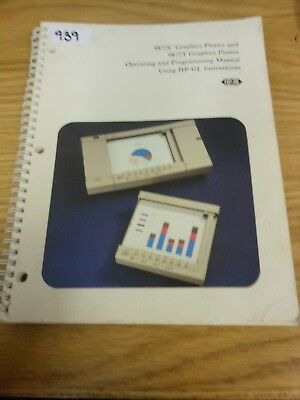 HP/Agilent 9872C/9872T Graphics Plotter Ops and Programming Manual    Loc: 939