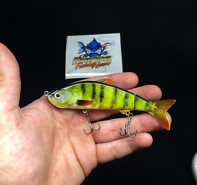 "New 10cm ""Killer Crank"" Cod Lolly Jointed Fishing Lure. 15g"