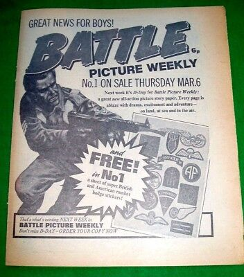 Battle Picture Weekly Comic #1  Stunning  Full Page Advert 1975