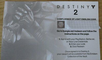 DESTINY 2 Confluence Of Light Emblem Code - Gamescom 2017